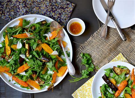 cuisiner les fanes de carottes salade de carottes et d 39 aubergines rôties tendance food