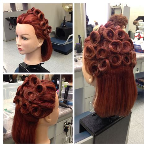 Up do pin curls Hair styles Short hair styles easy Men