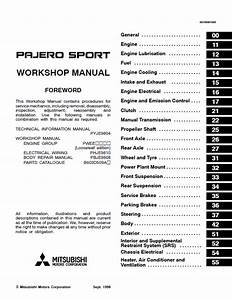 Mitsubishi Challenger  Montero  Pajero Workshop Manual Pdf