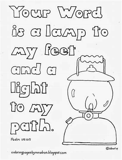 Psalm Coloring Lamp Pages 119 Word Feet