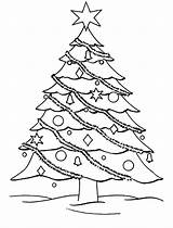 Coloring Christmas Pages Tree Trees Decorate Printable Decorated Drawing Colouring Sheets Template Presents Getcoloringpages Templates sketch template