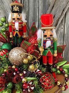 Christmas, Centerpiece, Christmas, Floral, Christmas, Decor, Nutcracker, Centerpiece, Nutcracker, Decor