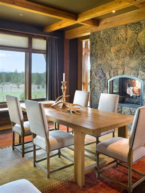 dining room fireplace houzz
