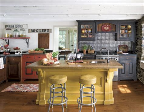 country yellow kitchens early american country kitchen 2969