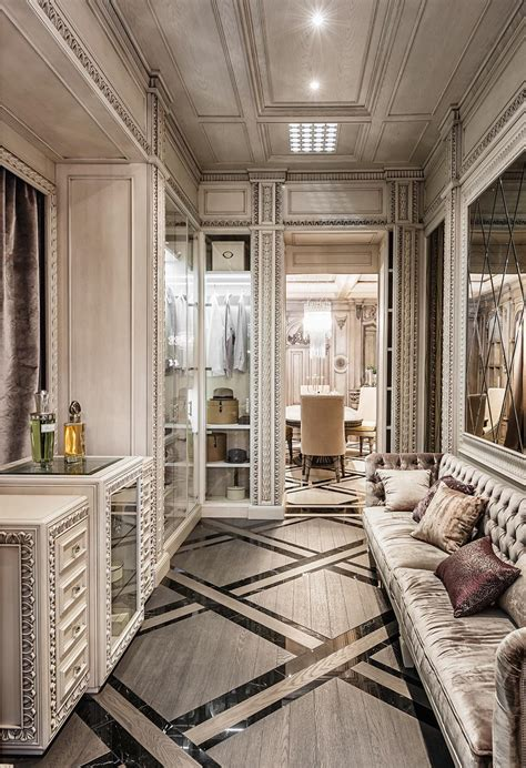 neoclassical  art deco features   luxurious interiors