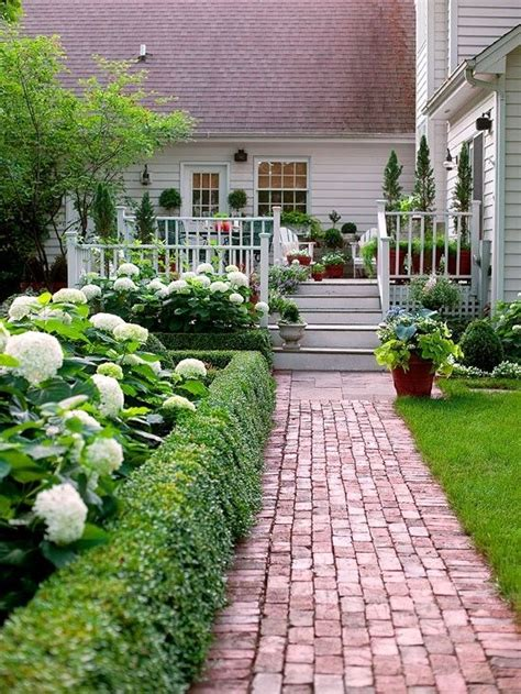 front gardens modern country style hydrangeas topiary and boxwood in the modern country garden
