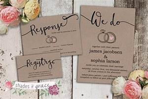printable wedding invitation rustic wedding invitations With wedding invitations not on paper