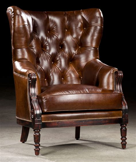 High Back Leather by Library Chair Leather Tufted High Back 97