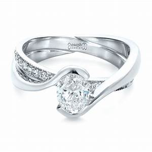 custom interlocking engagement ring 1437 With wedding ring customs