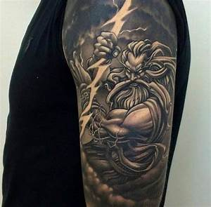 Zeus with a lightning bolt Tattoo - Ideas Tattoo Designs