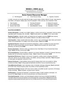human resource resume sles human resource manager resume