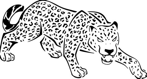 jaguar simple coloring pages