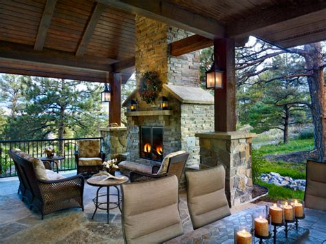 colorado mountain territorial style rustic patio