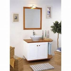 meuble vasque salle de bain bois et laque canata vasque With meuble evier salle de bain