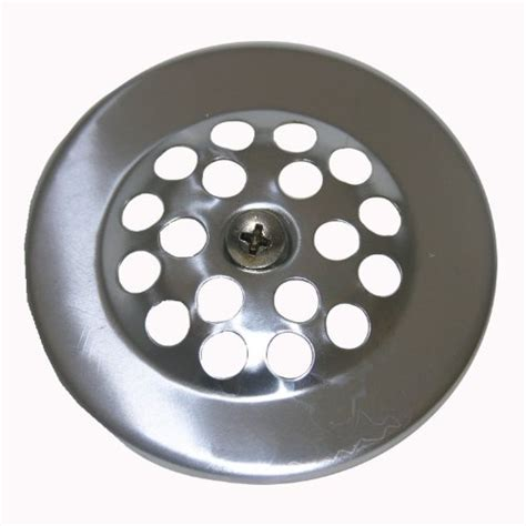 bathtub drain strainer cover lasco 03 1361 bathtub shoe drain cover with chrome