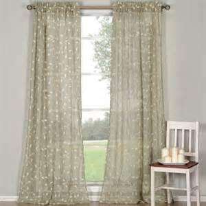 dr international kerr linen rod pocket sheer curtain panel
