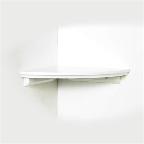 white corner shelf inplace 10 quot w x 10 quot l corner shelf kit white home home decor wall decor decorative shelving