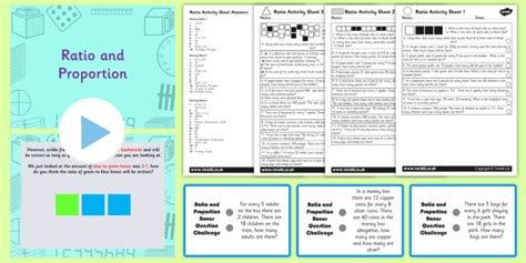 year  ratio  proportion task setter powerpoint