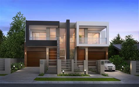luxury modern duplex home plans modern house plan