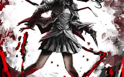 Blood Anime Wallpaper - anime digital blood knife anime
