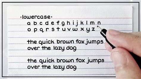 my handwriting lowercase uppercase cursive print