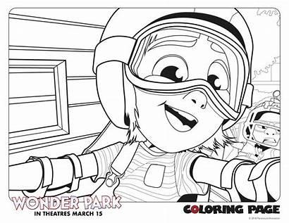 Coloring Wonder Park Pages March Copy Coloringpage