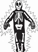 Skeleton Coloring Halloween Printable Pages Skeletons Skull Printables Sheets sketch template