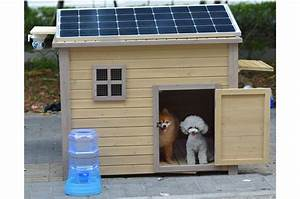 go green with solar heat for your dog house With solar powered dog house