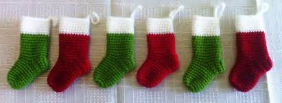 miniature christmas stockings 183 a christmas stocking 183 yarn craft and crochet on cut out keep