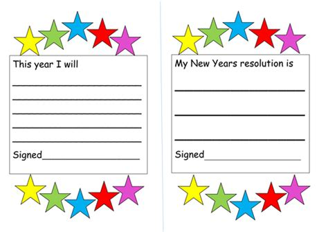 New Years Resolution Sheets By Misstallulah  Teaching Resources Tes
