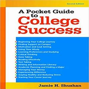 Pocket Guide To College Success 2nd Edition By Shushan