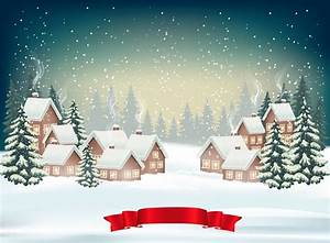 How To Create A Christmas Winter Background Design With