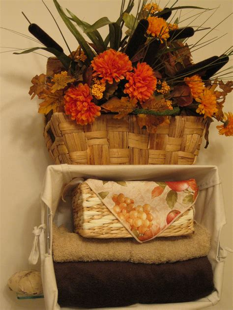fall bathroom decor fall decorations pinterest