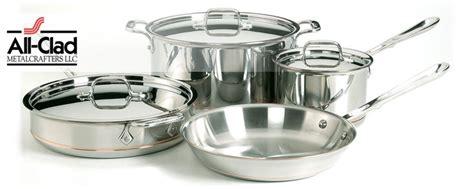 clad copper core cookware pots pans sets  shipping