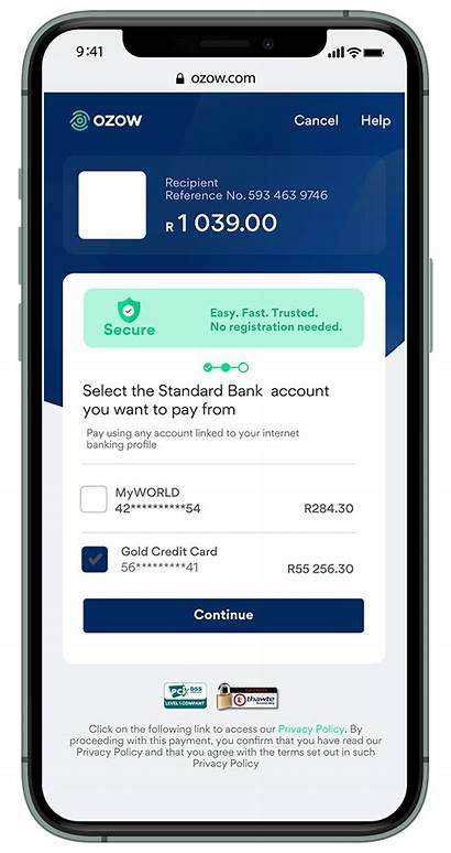 Bank Payment Standard Step Flow Ozow Training