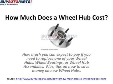 how much does a wheel hub cost