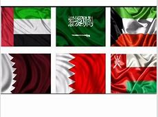 Flags of the countries of Gulf Cooperation Councilfrom