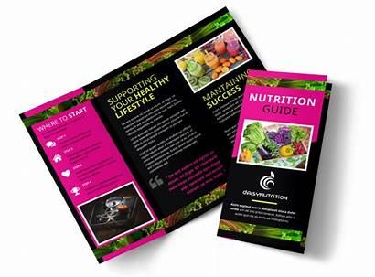 Brochure Nutrition Health Template Fold Tri Templates