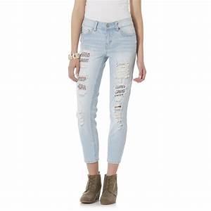 Dollhouse Junioru0026#39;s Roll-Up Skinny Capri Jeans | Shop Your Way Online Shopping u0026 Earn Points on ...