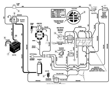 murray xa mid engine rider  parts diagram
