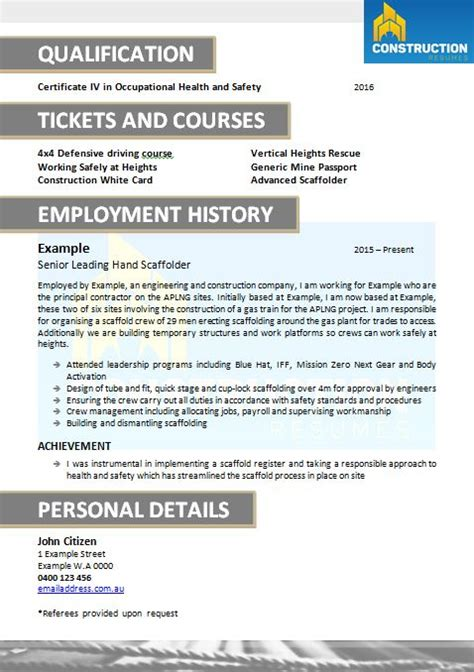 Resume For Skilled Tradesmen by Resume Services Skilled Trade