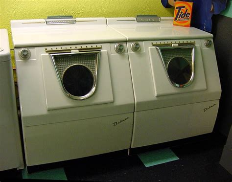 probably the coolest looking vintage washer dryer combo i ve seen for the home washer
