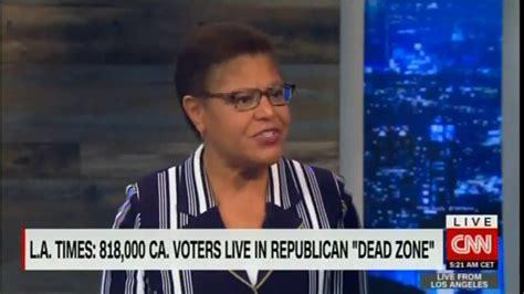 Rep. Karen Bass Discusses California Republican Dead Zones ...