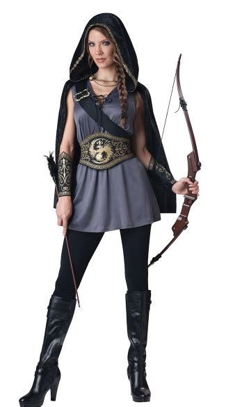 woodland huntress costume archer costume archery costume