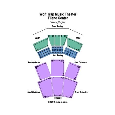 filene center seating chart wolf trap wolf trap filene center events and concerts in vienna 49105