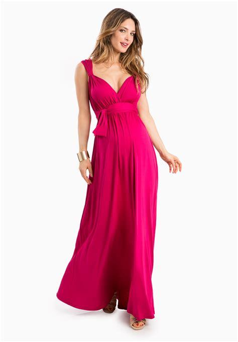 robe pour mariage framboise robe de soir 233 e femme enceinte framboise longue d 233 collet 233