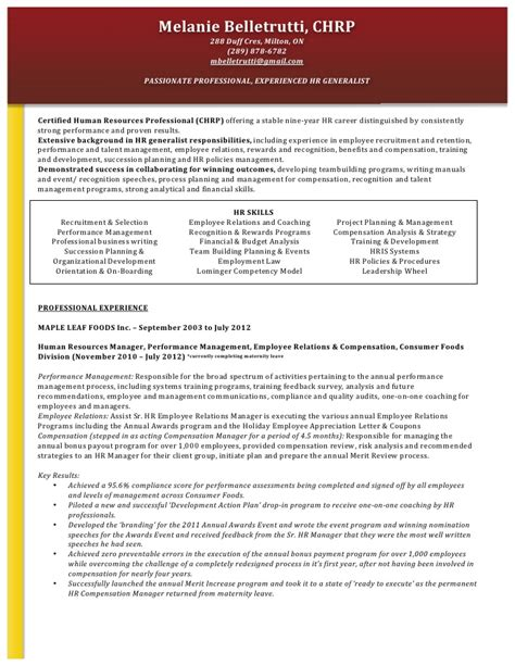 functional resume human resources generalist functional resume format for hr manager