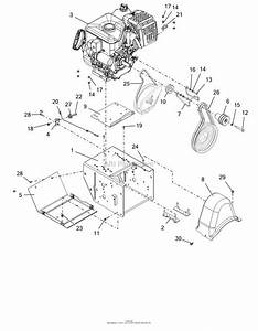 Ariens 921051  000101 -   Platinum Sho 30 Parts Diagram For Engine  Frame And Belt Drive