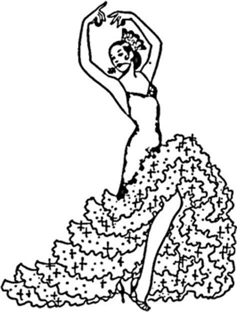 Coloriage danseuse flamenco a imprimer