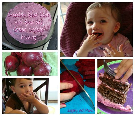chocolate beet cake  cream cheese frosting juggling